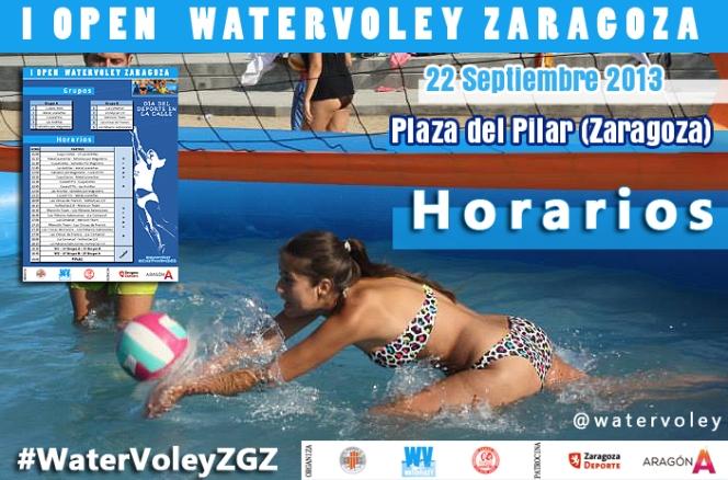 """Ya se conocen los emparejamientos del I Open """"Watervoley Zaragoza"""""""
