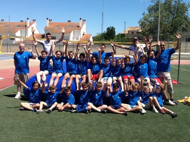 Watervoley en el Summer School deMontearagón