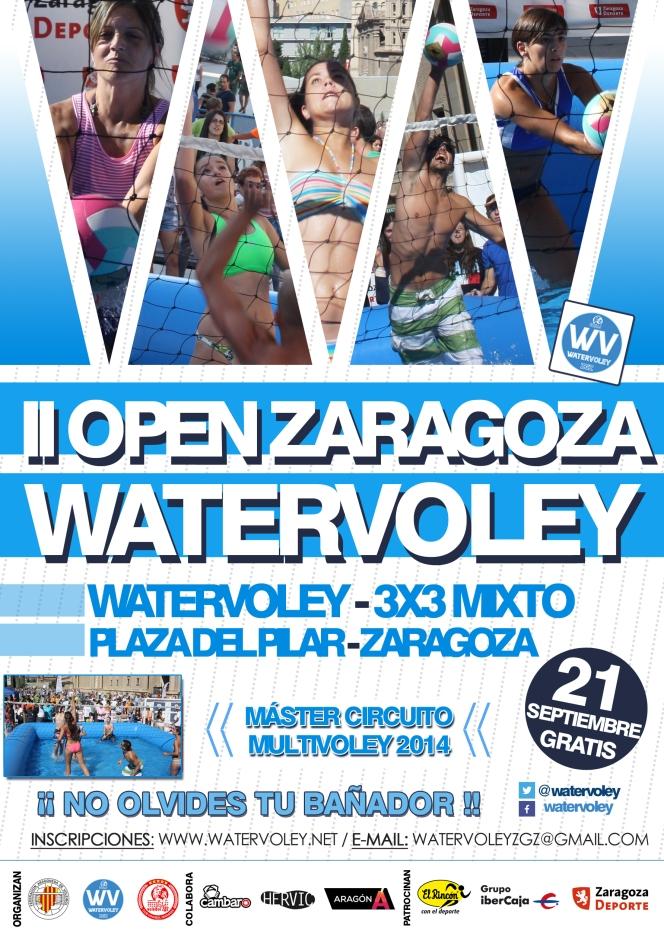 La Plaza del Pilar de Zaragoza acoge el Master 3×3 deWatervoley