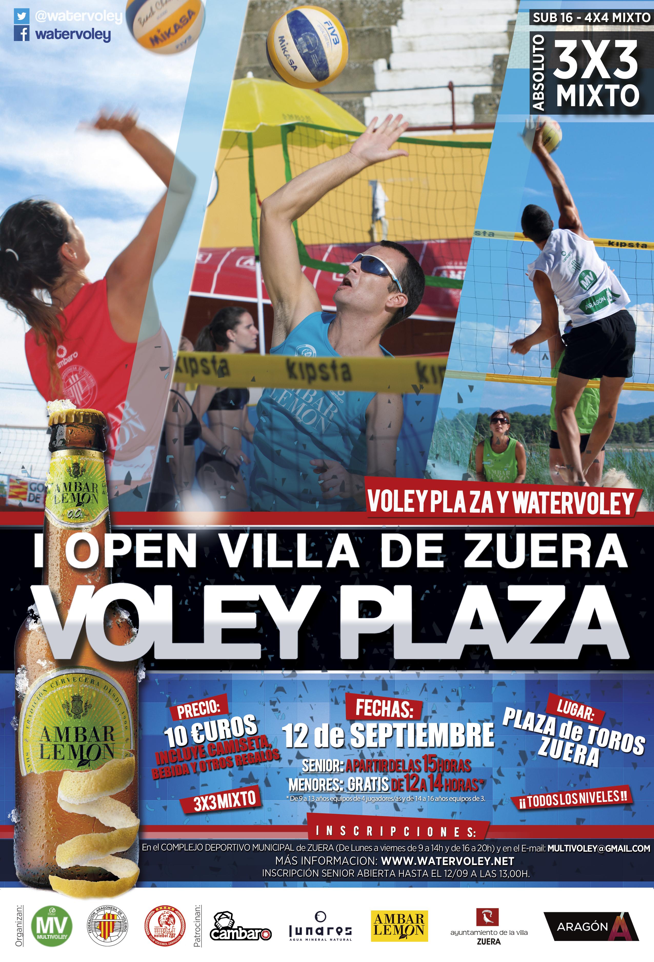 Circuito Zuera : Zuera acogerá su primer voley plaza el próximo día 12 water voley