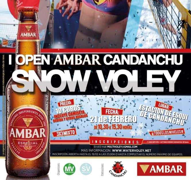 """I Open Ambar de """"Snow Voley"""" enCandanchu"""