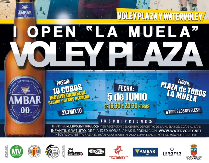 Regresa el Multivoley con el I Open Voley Plaza de La Muela