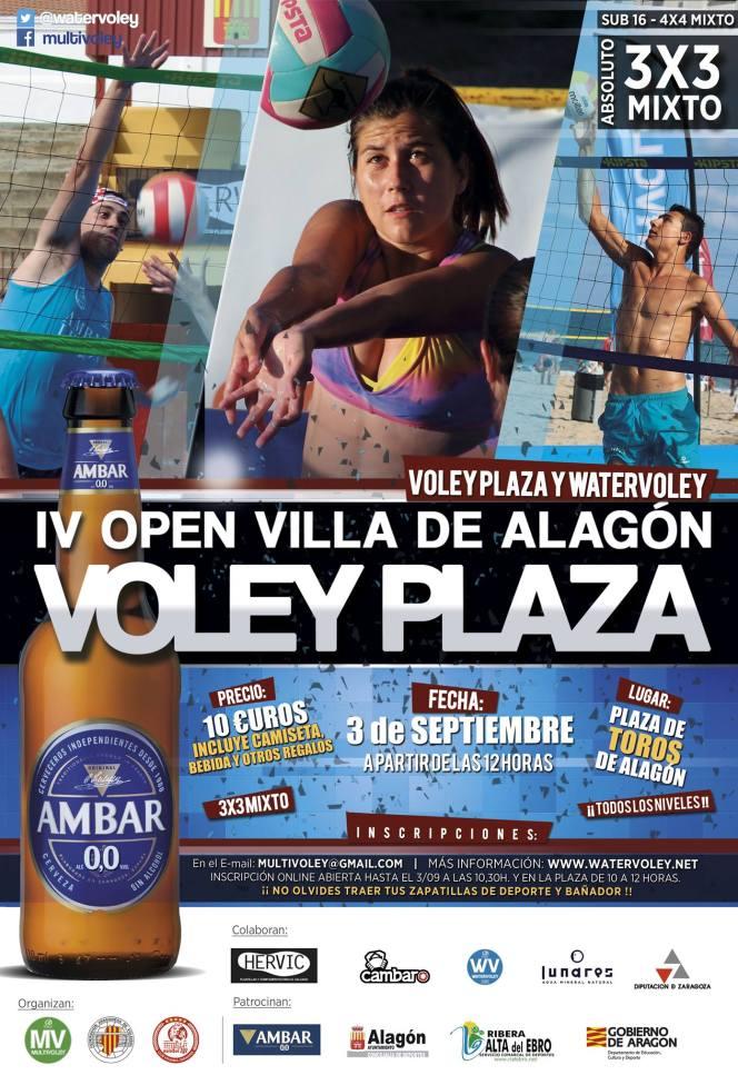 El IV Voley Plaza Villa de Alagón se celebra el 3 deseptiembre