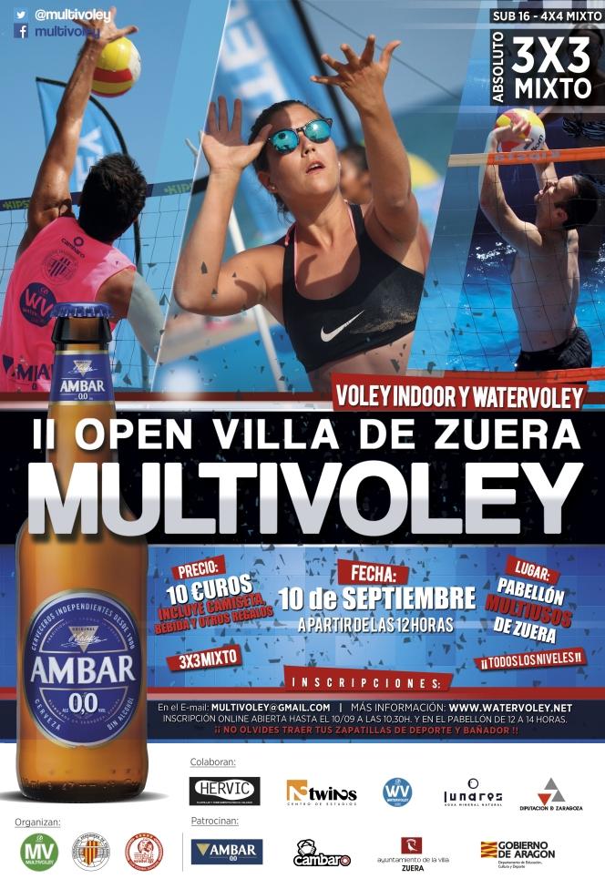 Zuera acoge su segundo open Multivoley este sábado día10