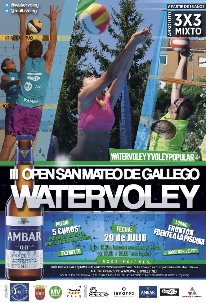 El watervoley llega a San Mateo por tercer añoconsecutivo.
