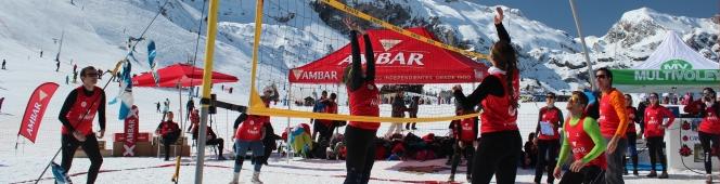 La III edición del Ambar Snow Voley de Candachú se celebrará el 18 defebrero.